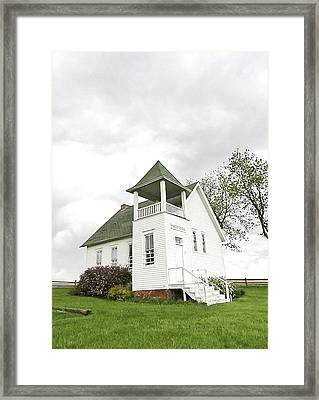 One Room School House Framed Print by Christine Belt
