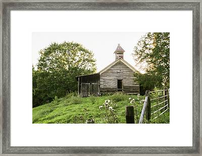 One Room School House In Country Framed Print by Lisa Lemmons-Powers