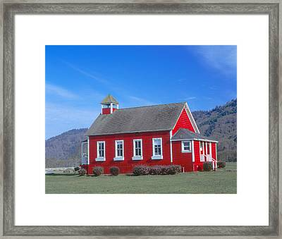 One-room Schoolhouse Along Highway 1 Framed Print by Panoramic Images
