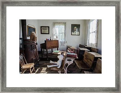 Framed Print featuring the photograph One Room Schoolhouse by Ann Bridges