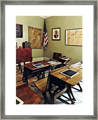 One Room Schoolhouse In New Jersey Framed Print