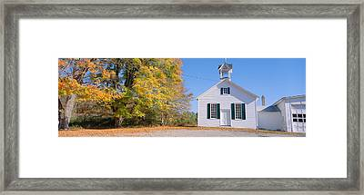 One-room Schoolhouse In Upstate New Framed Print