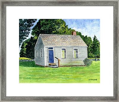 One Room Schoolhouse Stafford Springs Ct. Framed Print by Jeff Blazejovsky