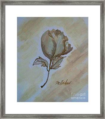 One Rose Framed Print by Marsha Heiken