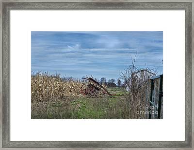 One Row Corn Picker Framed Print