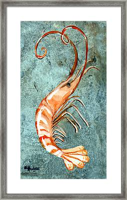 One Shrimp Framed Print by Elaine Hodges