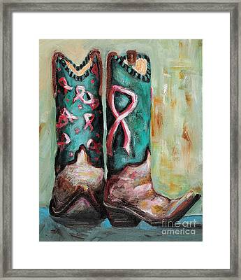 One Size Fits All Framed Print by Frances Marino