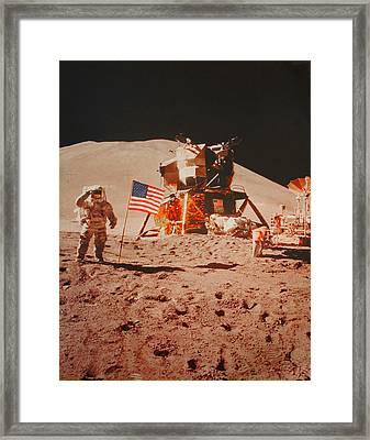 One Small Step For Man..... Framed Print by Jayme Pierce