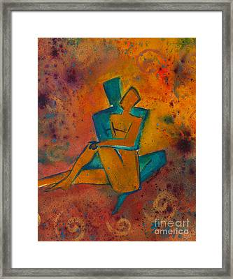 One Soul Divine Love Series No. 1002 Framed Print by Ilisa Millermoon