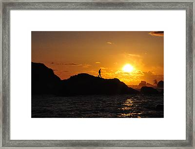 One Step At A Time Framed Print by Peter Schumacher