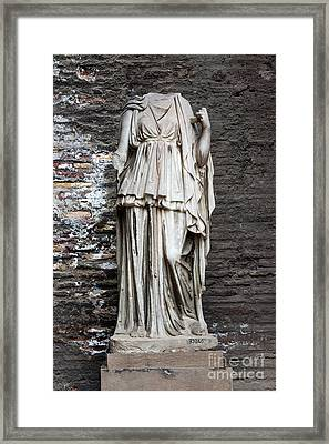 One Step Framed Print by Joseph Yarbrough