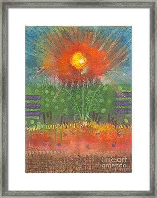Framed Print featuring the painting One Sunny Day by Angela L Walker