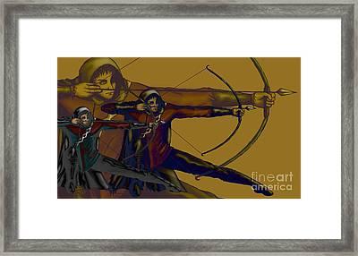 One Target Framed Print by Noelle Osborne