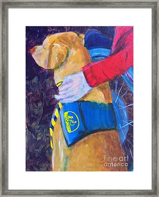 Framed Print featuring the painting One Team Two Heroes 3 by Donald J Ryker III