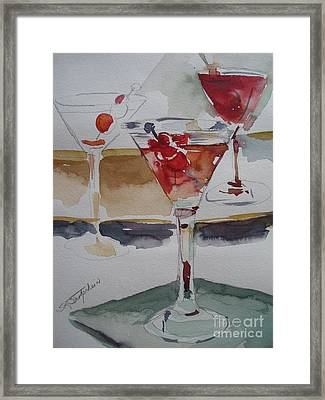 Framed Print featuring the painting One Too Many by Sandra Strohschein