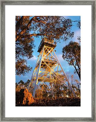 One Tree Lookout Framed Print
