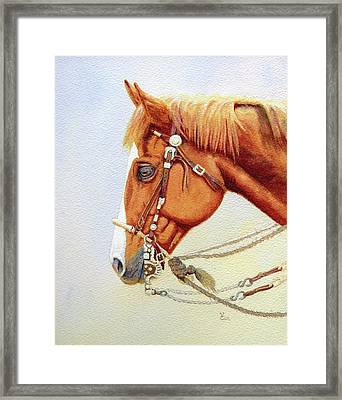 One Tricked Out Cowpony Framed Print