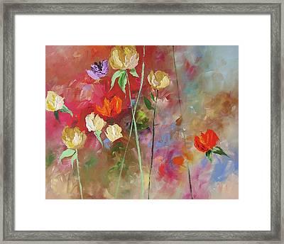 One Violet Rose Framed Print