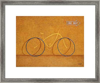 One Way Framed Print by Horacio Cardozo