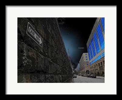 Usa Digital Art Framed Prints