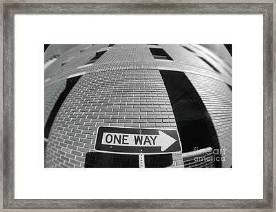 One Way Or Another Framed Print