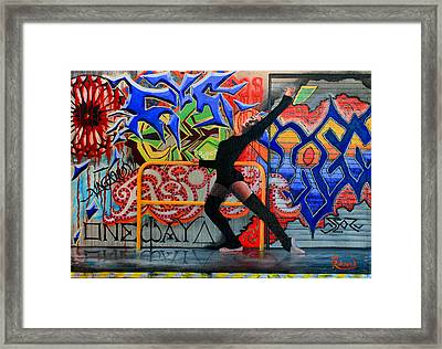 One Way Up Dancer Framed Print by Tracy Dupuis Roland