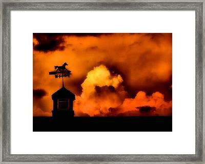 One Way Storm Framed Print by Karen M Scovill
