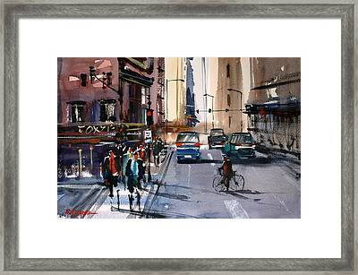 One Way Street - Chicago Framed Print by Ryan Radke