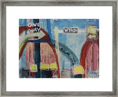 Framed Print featuring the painting One Way To 7th Street by Susan Stone