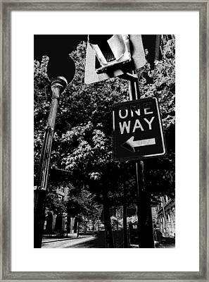 One Way To Go Framed Print by Gulf Island Photography and Images
