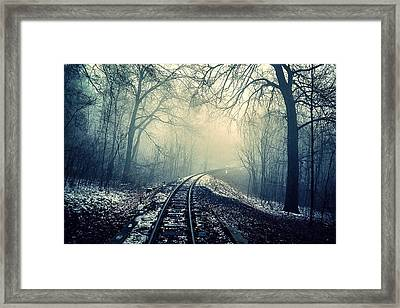 One Way Train Framed Print by Britten Adams