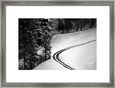 One Way - Winter In Switzerland Framed Print
