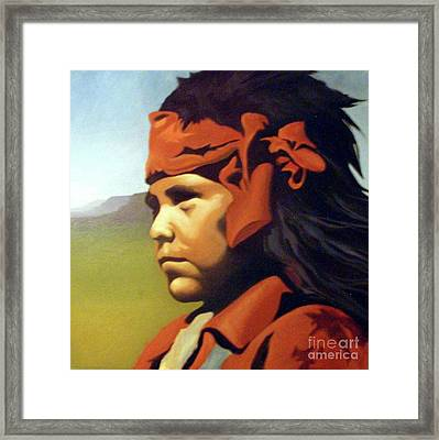 One Who Soars With The Hawk Framed Print