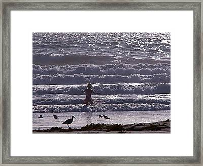 One With Nature Framed Print by Jan Cipolla