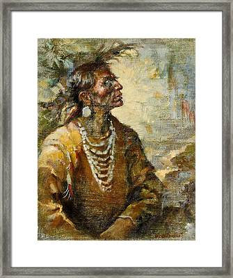 One With The Earth Framed Print