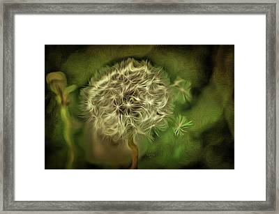 Framed Print featuring the mixed media One Woman's Wish by Trish Tritz