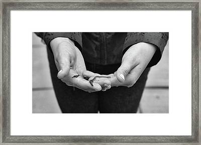 One Worm Saved Framed Print