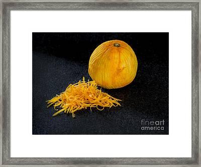 One Zested Orange Framed Print