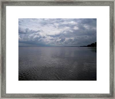 Oneida Lake Framed Print