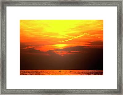 Oneida Lake Sunset 7 Framed Print