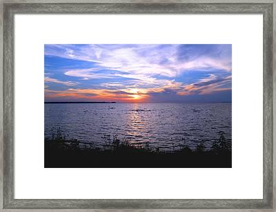 Oneida Lake Sunset I Framed Print