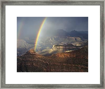 O'neill Butte Rainbow Framed Print by Mike Buchheit