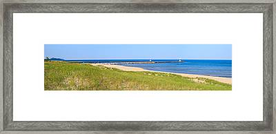 Onekama Michigan Panorama Framed Print by Twenty Two North Photography