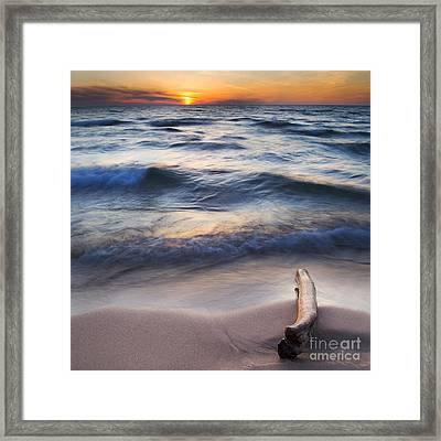 Onekama On The Beach Framed Print by Twenty Two North Photography