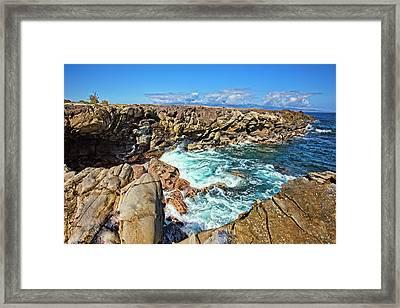Oneloa-honokahua Bay Framed Print by Marcia Colelli