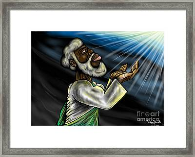 Oneness Of Christ And The Father Framed Print