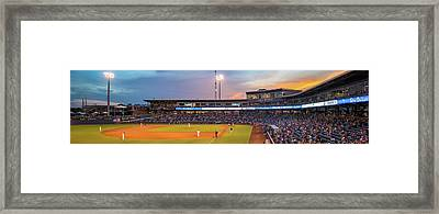 Oneok Stadium Panoramic - Tulsa Drillers - Tulsa Oklahoma Framed Print by Gregory Ballos