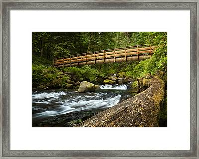 Oneonta Creek Crossing Framed Print