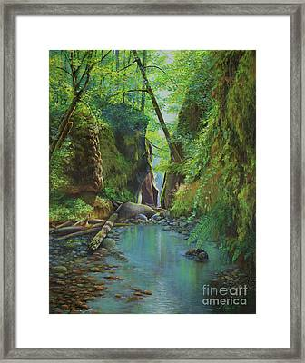 Oneonta Gorge Framed Print by Jeanette French