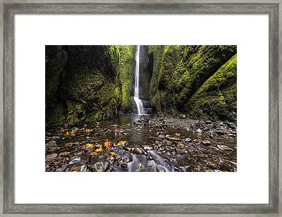 Oneonta Gorge Framed Print by Mark Kiver